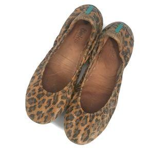 Leopard print tieks size 7